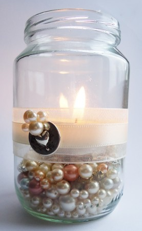 Vintage Jam Jar Tea Light Holder