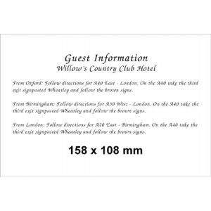 158 x 108 (Landscape) Pearl Information Card