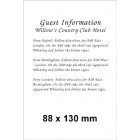 88 x 130 (Portrait) White Information Card
