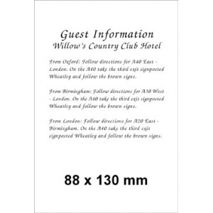 88 x 130 (Portrait) Pearl Information Card