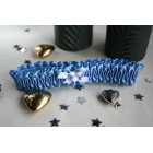 Blue Satin Brides Garter
