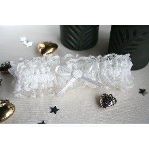 White Lace Brides Garter
