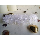 White Lace Wedding Garter with Bows