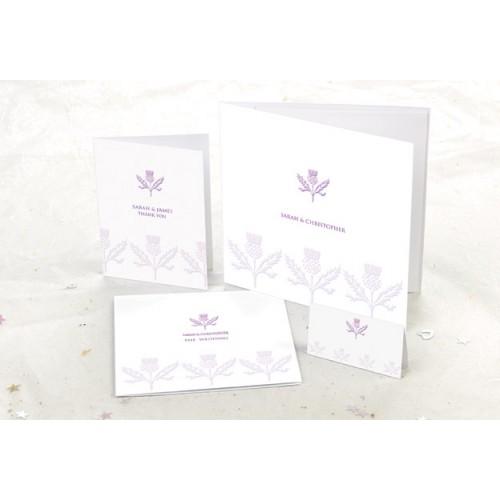 Symbols (Thistle) Wedding Invitation