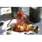 Chocolate Brown Organza Favour Bag