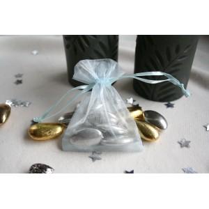 Light Blue Organza Favour Bag