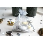 Silver Organza Favour Bag