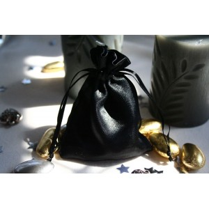 Black Satin Favour Bag