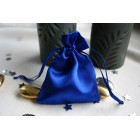 Blue Satin Favour Bag