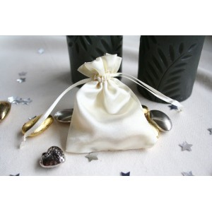 Ivory Satin Favour Bag