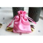 Baby Pink Satin Favour Bag