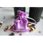 Pinky Lilac Satin Favour Bag