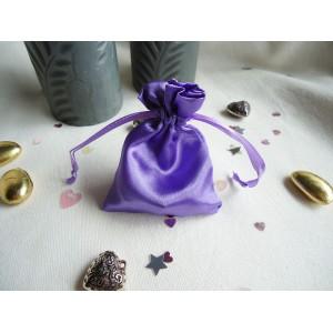 Purple Satin Favour Bag