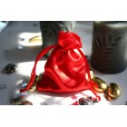 Red Satin Favour Bag