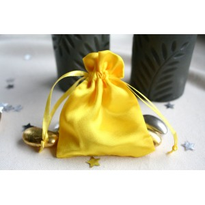 Canary Yellow Satin Favour Bag